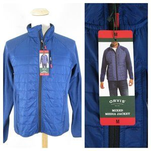 Orvis True Blue Quilted Fleece Mixed Media Jacket